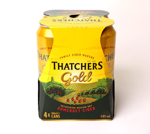 Thatchers Gold - 4 Dosen a 500 ml mit 4,8% Vol Alc