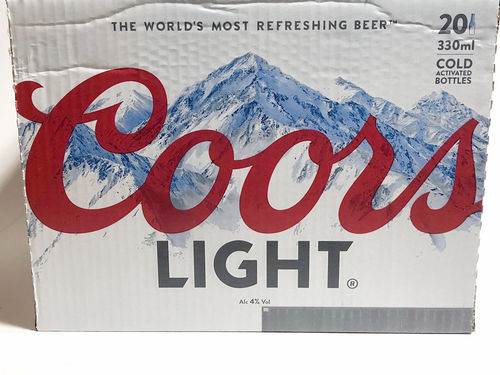 Coors Light - 20 Flaschen a 330 ml mit 4% Vol. Alc